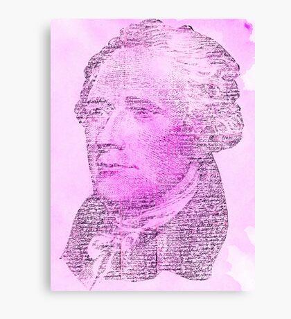 Hamilton Letters - Pink Canvas Print