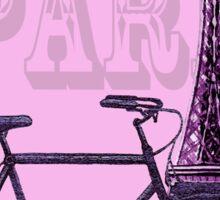 Romantic Ride To Paris Decor Sticker