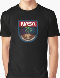 The Martian - Potato Science Program - Black Clean Graphic T-Shirt