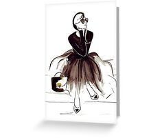 Wool and Tulle Greeting Card