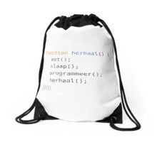 Eat, Sleep, Code, Repeat Drawstring Bag
