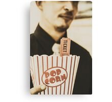 Old-fashioned movies Canvas Print