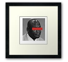 MJ Crying Meme - Red Eyes Framed Print