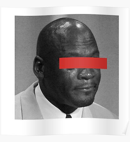 MJ Crying Meme - Red Eyes Poster