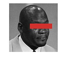 MJ Crying Meme - Red Eyes Photographic Print