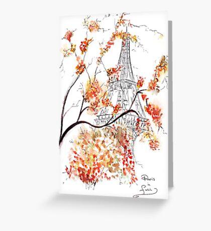 Paris in Fall Greeting Card
