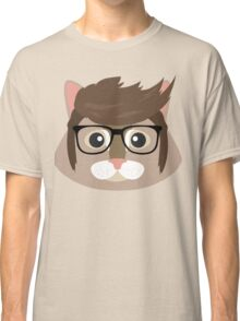 Hipster cat Classic T-Shirt