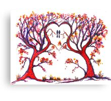 Trees - 'The Heart of Love' Canvas Print