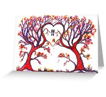 Trees - 'The Heart of Love' Greeting Card