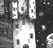 Castle At Night Sticker