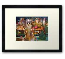 Country Town Collage Framed Print