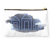 Blue Neighbourhood Watercolour  Studio Pouch