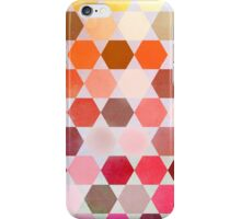 Red and Yellow Hexagons iPhone Case/Skin
