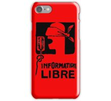 INFORMATION LIBRE iPhone Case/Skin