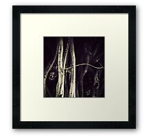 I see faces Framed Print