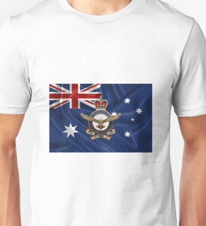 Royal Australian Air Force - RAAF Badge over Australian Flag Unisex T-Shirt