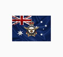 Royal Australian Air Force - RAAF Badge over Australian Flag Unisex T-Shirt