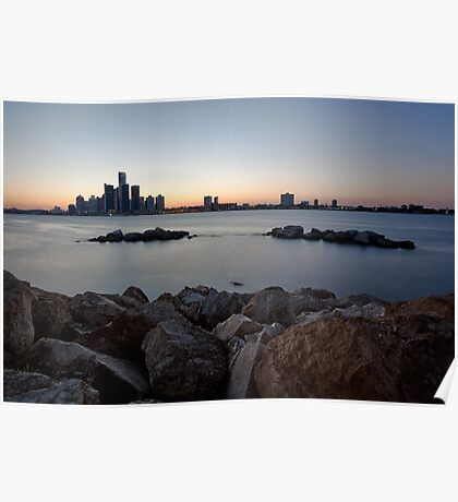Detroit, Michigan Skyline Poster