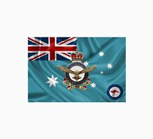 Royal Australian Air Force Badge over RAAF  Ensign Unisex T-Shirt