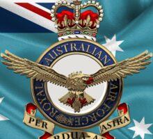 Royal Australian Air Force Badge over RAAF  Ensign Sticker