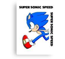 Super Sonic Speed Canvas Print