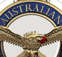 Royal Australian Air Force - RAAF Badge over Blue Velvet Sticker