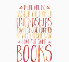 Bookish Friendship (Red) Unisex T-Shirt