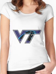 Virginia Tech Panthers Women's Fitted Scoop T-Shirt