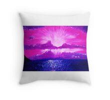 Blazing Purple Sunset Throw Pillow
