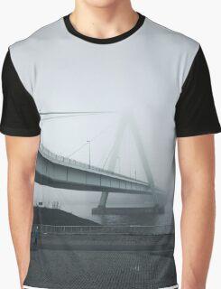 Foggy Bridge River Nature Fine Art Photography 0020 Graphic T-Shirt