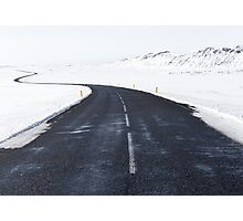 Snowy Road Ahead Nature Fine Art Photography 0021 Photographic Print