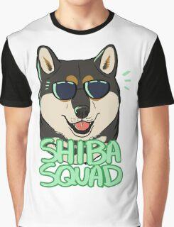 SHIBA SQUAD (black and tan) Graphic T-Shirt