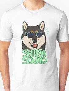 SHIBA SQUAD (black and tan) Unisex T-Shirt