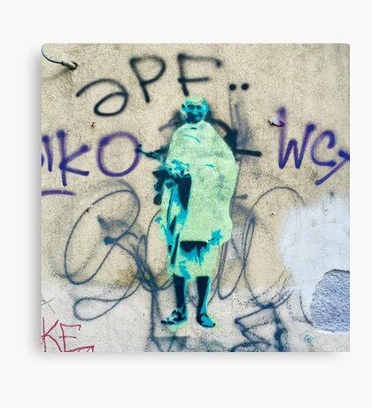 Graffiti Gandhi Canvas Print