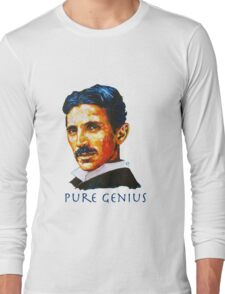 Nikola Tesla Tribute Long Sleeve T-Shirt
