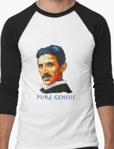 Nikola Tesla Tribute Men's Baseball ¾ T-Shirt
