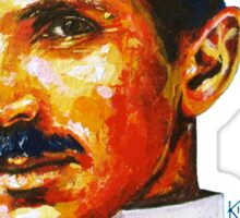 Nikola Tesla Tribute Sticker