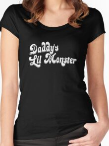 Daddy's Little Monster Women's Fitted Scoop T-Shirt