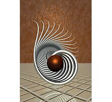 Abstract 3D Sculpture Design Photographic Print