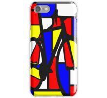 Mondrianesque Road Bike iPhone Case/Skin