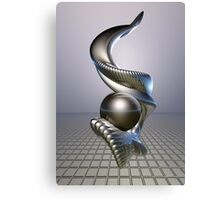 Abstract 3D Sculpture Design Canvas Print