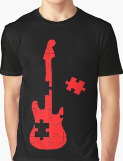 Guitar Puzzle Graphic T-Shirt