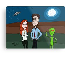 Scully and Mulder Return Metal Print