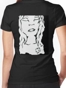 Say A Prayer Women's Fitted V-Neck T-Shirt