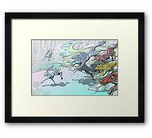 Wolves and Hares Framed Print