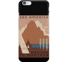 'Montana' Vintage Travel Poster iPhone Case/Skin