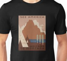 'Montana' Vintage Travel Poster Unisex T-Shirt