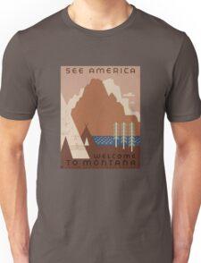 'Montana' Vintage Travel Poster Unisex T-Shirt