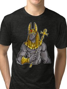 Anubis Egyptian God  Tri-blend T-Shirt