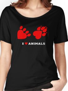 I Love Animals Women's Relaxed Fit T-Shirt